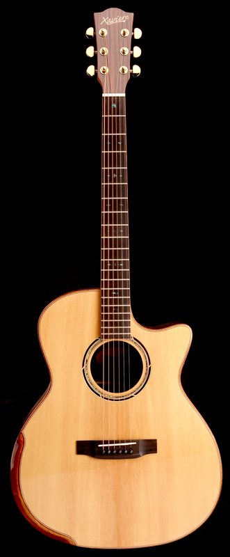 Spalted Maple Xaviere All Wood Premium Acoustic Electric