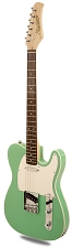 XV840 Solid Alder DOUBLE Bound Body, Surf Green, Rosewood Fingerboard