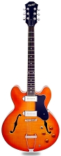 XV-910 Semi Hollowbody Flamed Maple Alnico P90s