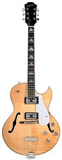 XV-950 Hollowbody GFS Retrotrons, Flamed maple Vintage Natural