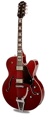 Xaviere XV-975 Big Body Jazz Guitar Gold Foil Pickups Cherry Red Flame Maple