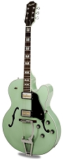 Xaviere XV-975 Big Body Jazz Guitar Gold Foil Pickups Surf Green