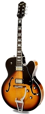 Xaviere XV-975 Big Body Jazz Guitar Gold Foil Pickups Sunburst Flame Maple