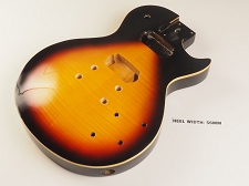 LP Carved Top Body- SOLID Mahogany- Flamed Maple Veneer- Vintage Sunburst - Bolt On - Free Rear Plates! - Blemished