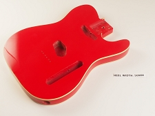 Double Bound Lightweight Telecaster® Style Body Cardinal Red  - Blemished