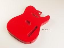 Lightweight Vintage Telecaster® Style Body Fiesta Red - Blemished