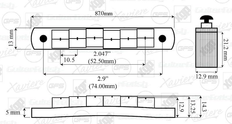 xgp solid brass locking tuneomatic bridge  locking saddles