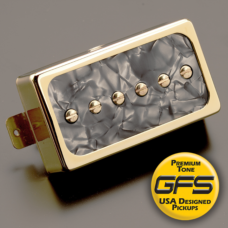 Dream 90 Humbucker Sized P90 Black Pearlgold Neck Position