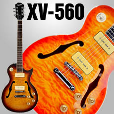 XV-560 SOLID Maple Top Semi Hollowbody Alnico P90s