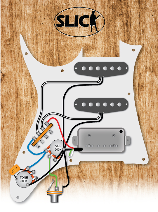Ibanez Style Hss 1 Vol Tone, Stratocaster Wiring Diagram Hss