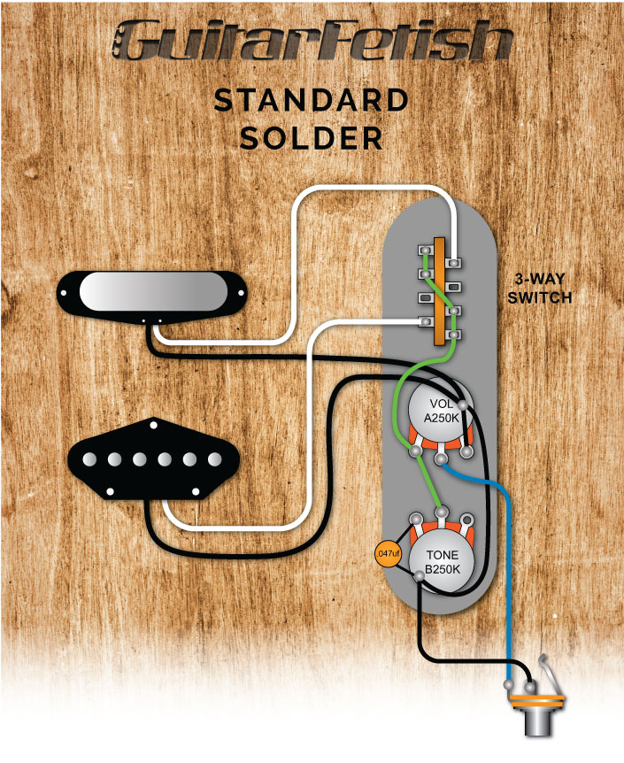 3Way Telecaster Switch Wiring Diagram from www.guitarfetish.com
