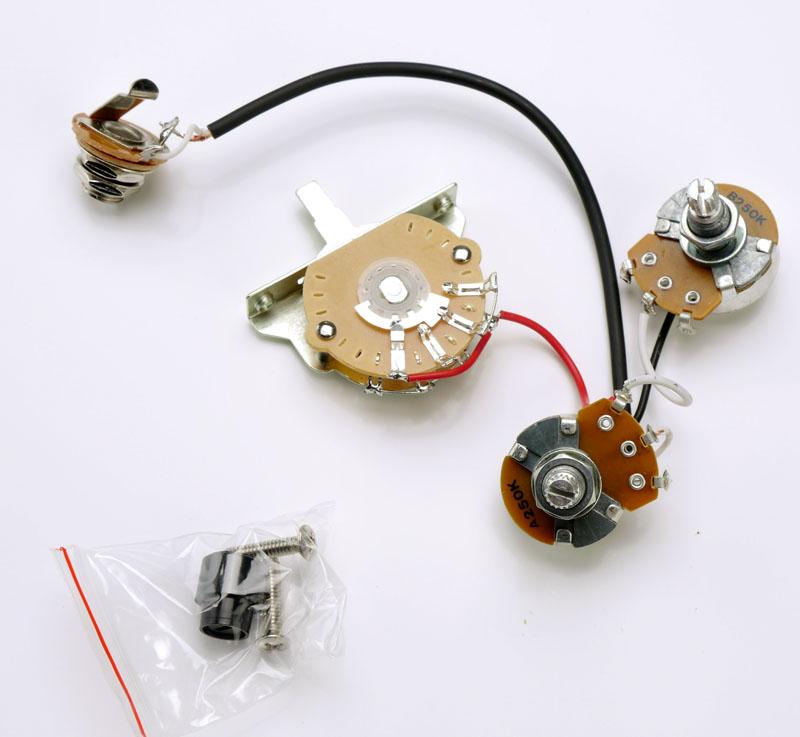 humbucker complete wiring harness fits telecaster  prek184_a jpg