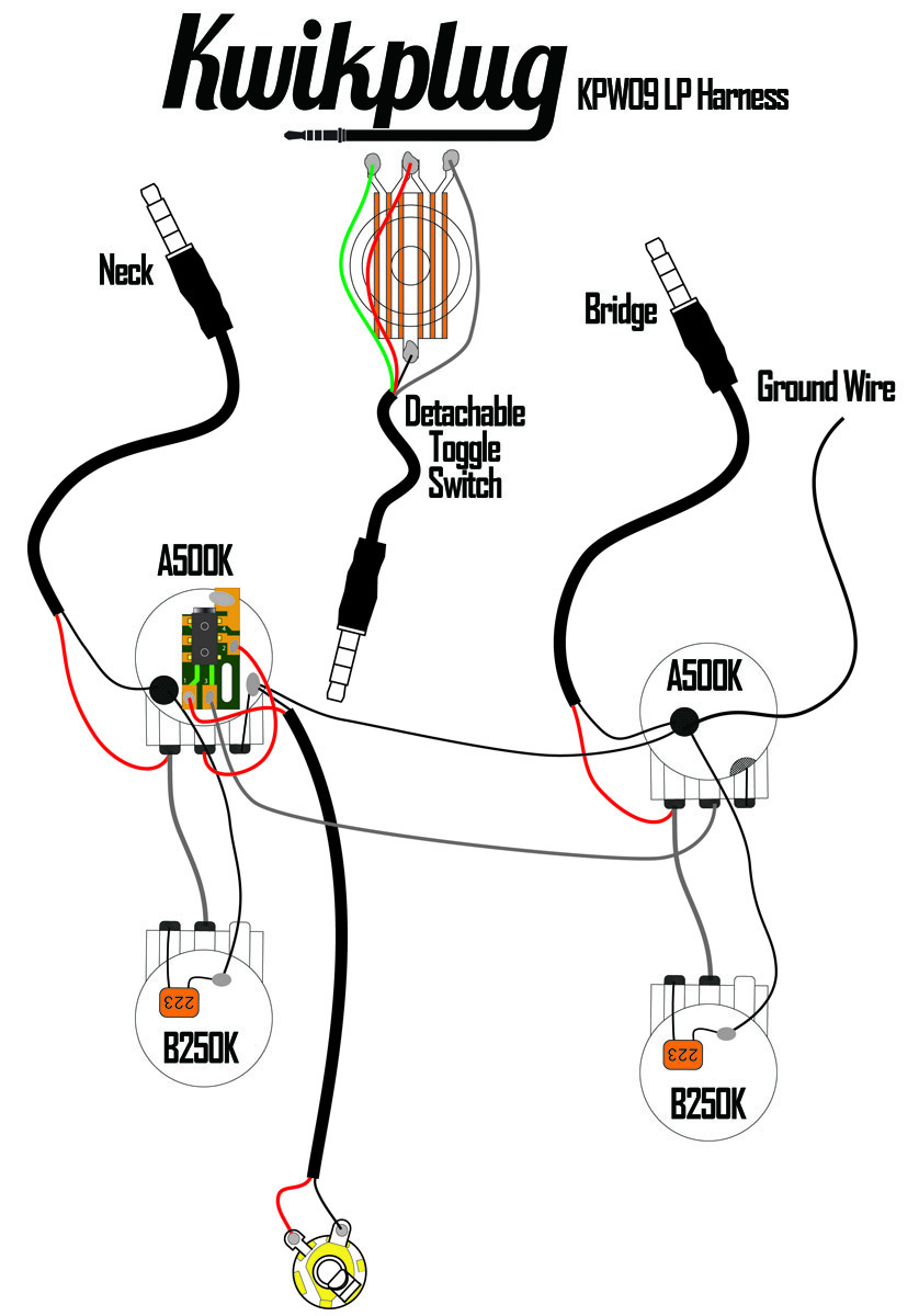 Kwikplug Lp 2 Humbucker Wiring Harness