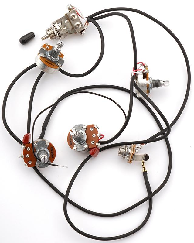 Kwikplug Es 330 Semi Hollow 2 P90 Harness Pre Soldered