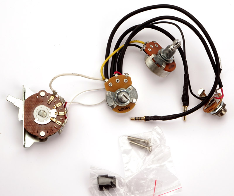 kwikplug tele style humbucker single coil wiring harness pre rh guitarfetish com tele deluxe wiring harness custom tele wiring harness