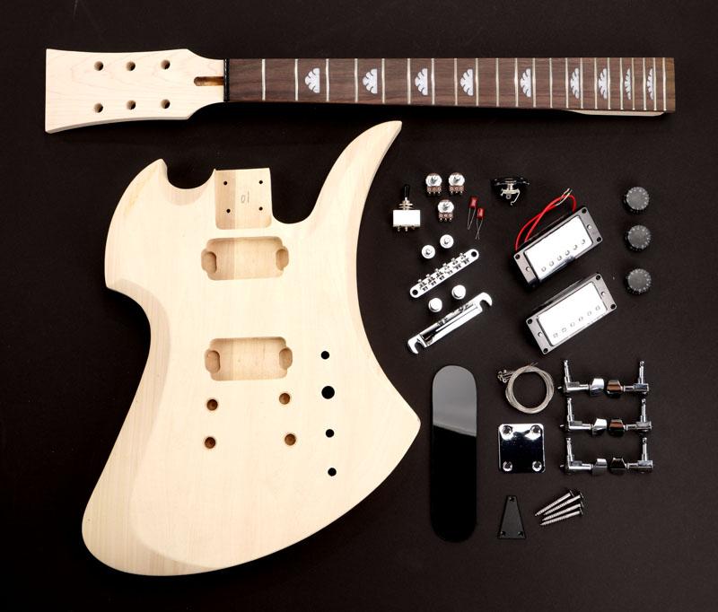 Guitar and bass kits classic mockingbird style guitar kit rw poplar body complete solutioingenieria Choice Image