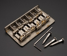 RELIC Aged Chrome Hardtail Bridge, Fits Teles® and Strats®