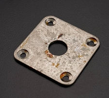 RELIC aged Square Output Plate- Fits Les Paul®, Telecaster® Fit- FREE jack and screws!