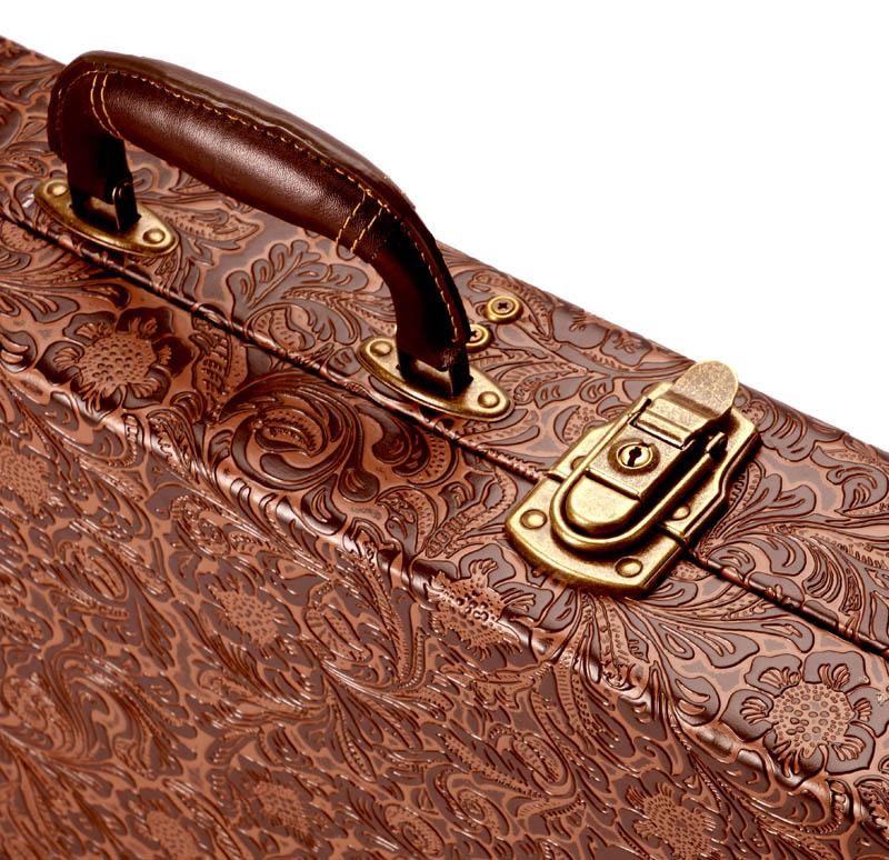 Premium Tooled Leather Hardshell Jazzmaster Offset Case