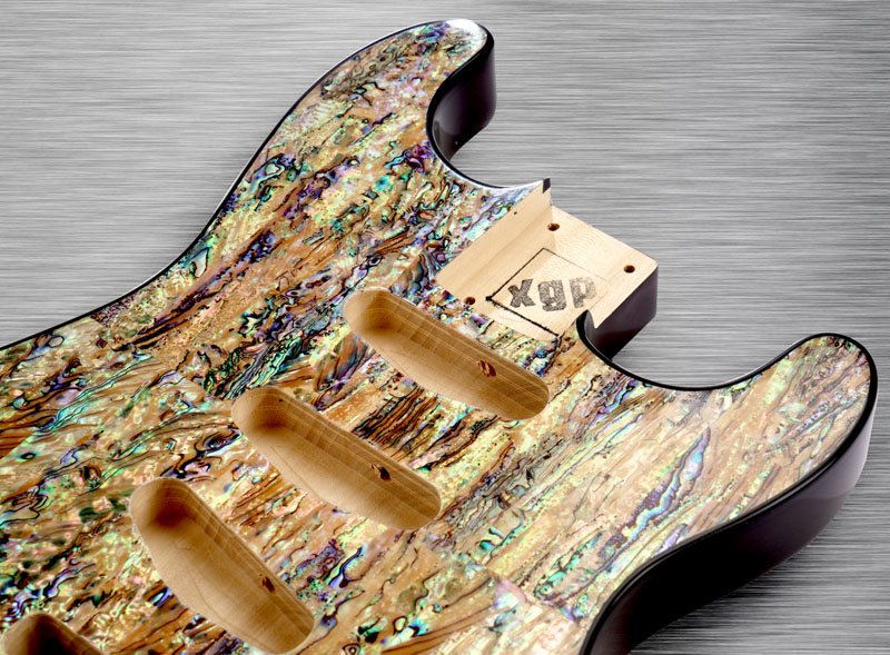xgp real abalone shell strat style body 3 single coils. Black Bedroom Furniture Sets. Home Design Ideas