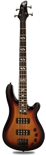 DLX Bass Active Preamp, Carved Body, intage Sunburst  24 Fret