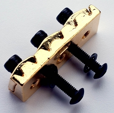 43mm Rear Mount Floyd Rose Locking Nut. Gold includes hardware.