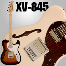 Xaviere XV-845 Thinline Tele with Gold Foils