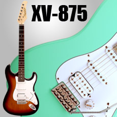 XV-875 Kwikplug Equipped HSS with Coil Split Strat Style