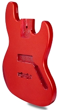 METAFLAKE SPARKLE Red Jazz Bass Lightweight Body