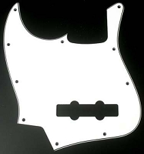 LEFTY Jazz Bass Pickguard 3 Ply White/Black/White