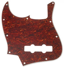 LEFTY Jazz Bass Pickguard 3-Ply Tortoise Shell