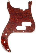 LEFTY P Bass 3 Ply Pickguard Vintage Tortoise Shell