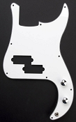 White P-Bass pre-wired pickguard
