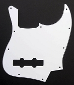 Jazz Bass style White 3-ply pickguard