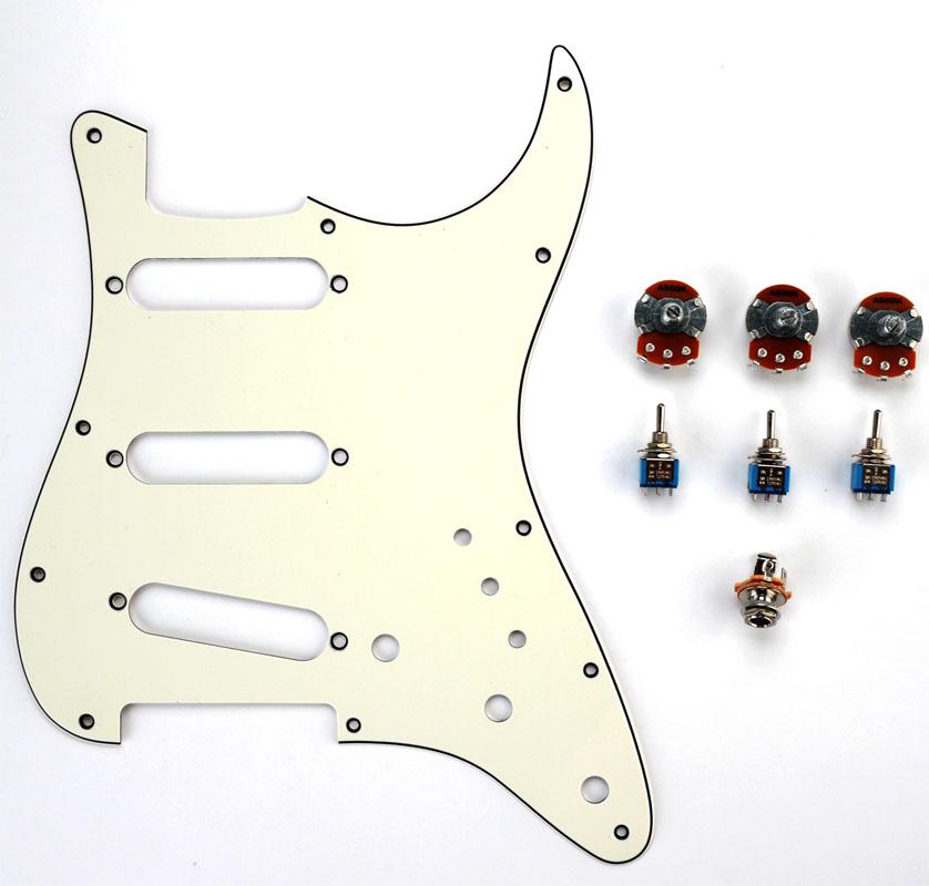 super strat wiring diagram somurich com Fender Jaguar Pickguard fender jaguar wiring kit uk