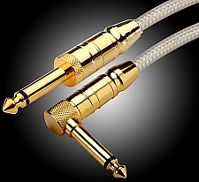 OUR BEST- Straight/Right Angle Lo-Impedance Silver Cable- made in UK