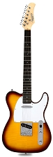 XV-835 Flamed Maple Top Solid Woods Vintage Sunburst Rosewood Fingerboard
