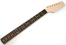 Unfinished Neck - Fits Strats® - Paddle Headstock Rosewood Fingerboard