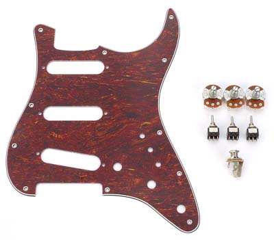 Tortoise S Kit - Fits Superstrat® on gibson es-335 guitar kit, strat wiring guide, strat style guitars, tone guitar upgrade kit, strat parts kit, strat wiring harness,