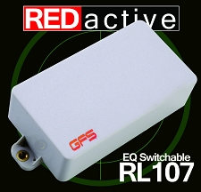 REDactive EQ Switching Humbucker Active Neck position White