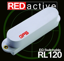 REDactive EQ Switchable Strat® Active Bridge position White