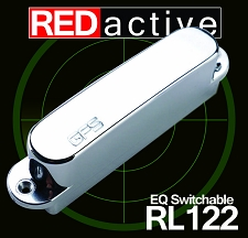 REDactive EQ Switchable Tele Neck Pickup Active Chrome Case