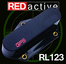 REDactive Bridge Pickup Active Black Case - Fits Tele®