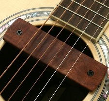 GFS Bubinga Wood Soundhole Magnetic Pickup 3.5mm for Blender