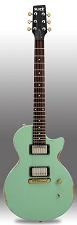 Slick SL52 Aged Surf Green Dual Humbucker PIckups