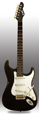 Slick SL57 Aged Black Solid Ash Body Alnico Pickups