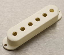 Hand Aged Strat Pickup Cover- Vintage White