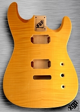 XGP Arched Top Strat Body Flamed Maple 2H Vintage Natural