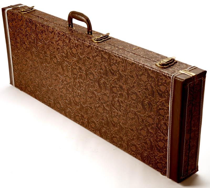 42e042cad7d PREMIUM Tooled Leather Hardshell Case, Fits Strat®/Tele®- Gold ...