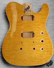 XGP Arched Top Tele Body QUILT Maple 2H Vintage Natural